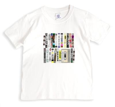 Colourful Cassette Tapes Black T-Shirt