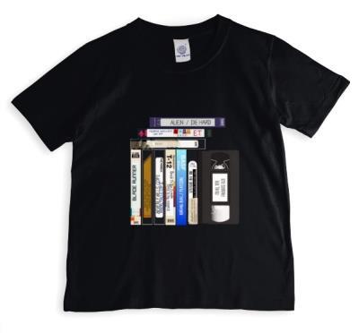 Colourful Cassette Tapes Black T-Shirt