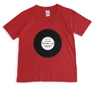 Vinyl Addict 7  Single Print Red T-Shirt