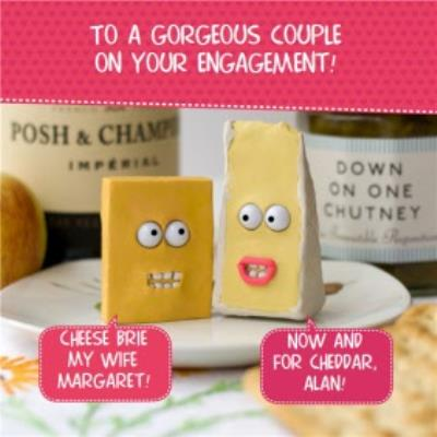 To A Cheesy Couple Funny Personalised On Your Engagement Card