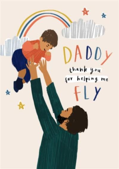 Illustrated Characters Thank you Daddy Father's Day Card