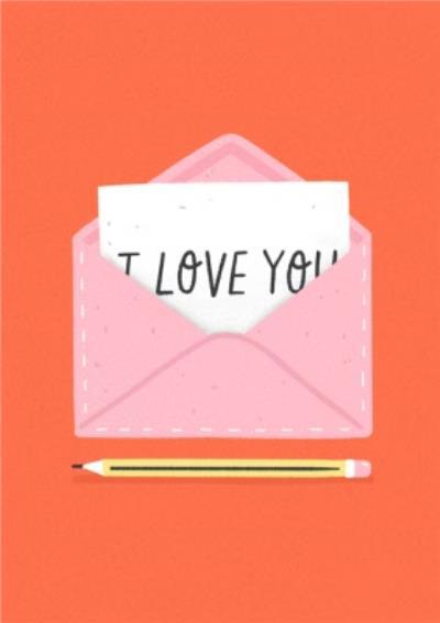 Cute Envelope I Love You Card