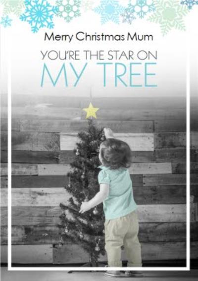 Star On My Tree Personalised Christmas Card