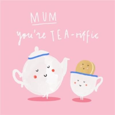 Tea Pun Mother's Day Card. Send your mum a funny Mother's Day card