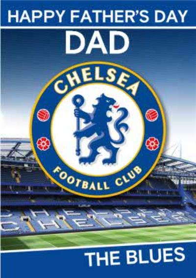 Chelsea Football Club Happy Father's Day Card