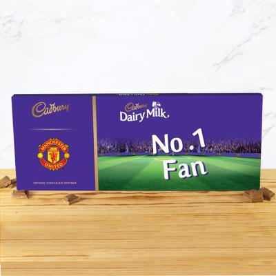 No.1 Man United Football Fan Cadbury Bar (850g)