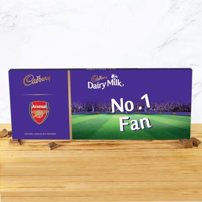 No.1 Arsenal Football Fan Cadbury Bar (850g)