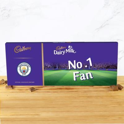 No.1 Man City Football Fan Cadbury Bar (850g)