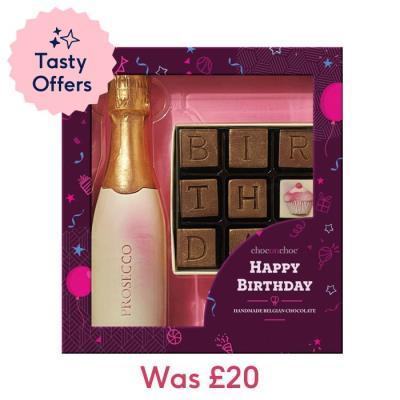 Choc on Choc Chocolate Prosecco & Birthday Set
