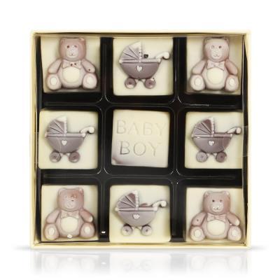 Choc on Choc Baby Boy Chocolate Box