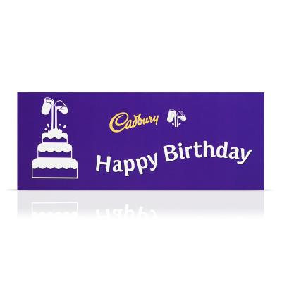 Giant Birthday Cadbury bar