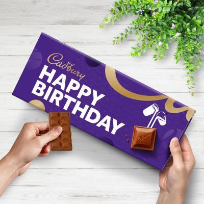 Giant Birthday Cadbury bar (850g)