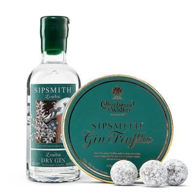Sipsmith Gin Truffles & Dry Gin Gift Set