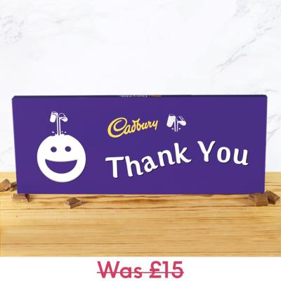 Giant Thank You Cadbury Bar (850g)