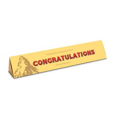 Congratulations Milk Chocolate Toblerone (360g)