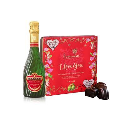 Tsarine Brut Champagne and Holdsworth 'I Love You' Chocolate Gift Set