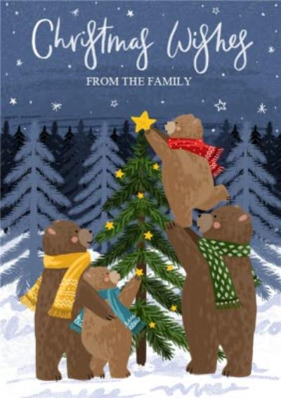 Christmas Wishes From The Family Bear Card