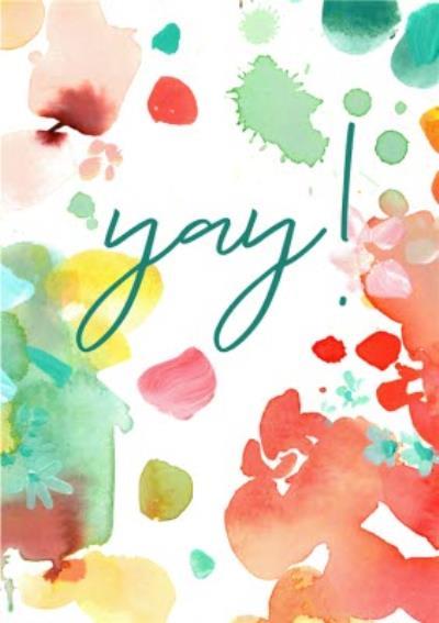 Colourful Paint Yay Card