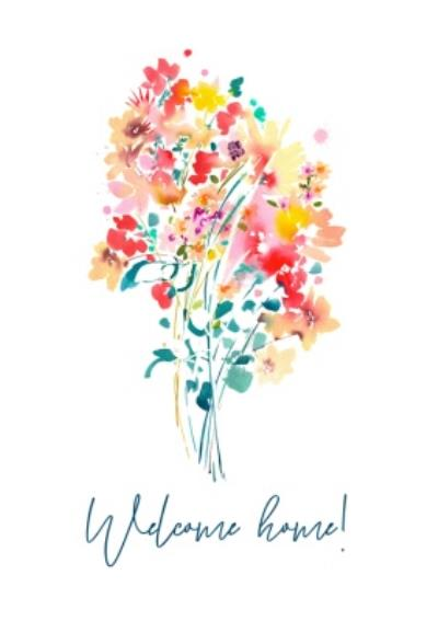 Colourful Bouquet Welcome Home Card