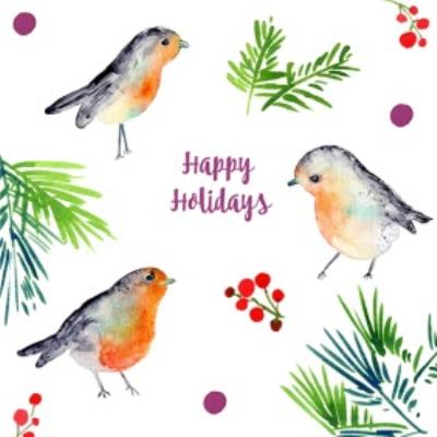 Robins Happy Holidays Card