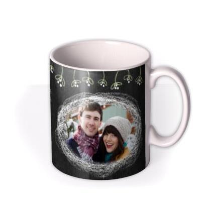 Christmas Mistletoe Chalk Personalised Mug