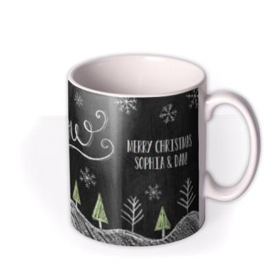 Christmas Let It Snow Personalised Mug