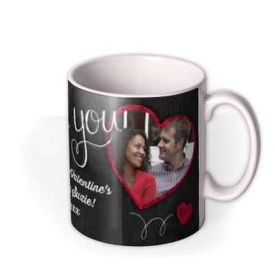 Valentine's Day Love Chalkboard Photo Upload Mug