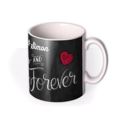 Valentine's Day Forever Chalkboard Photo Upload Mug