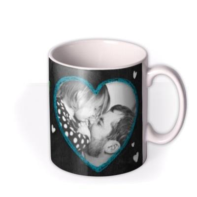 Father's Day Love You Daddy Chalkboard Photo Upload Mug