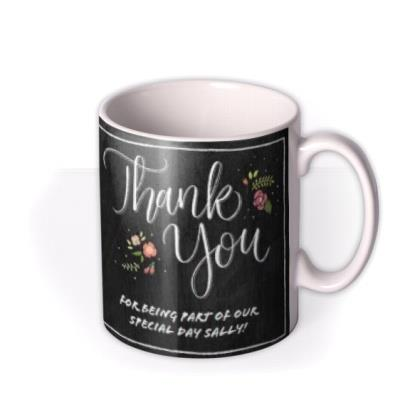 Wedding Thank You Special Day Photo Upload Mug