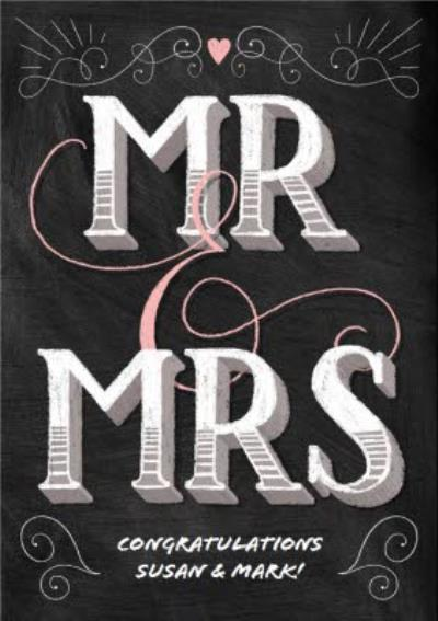 Congrats Mr. & Mrs. On Your Wedding Card