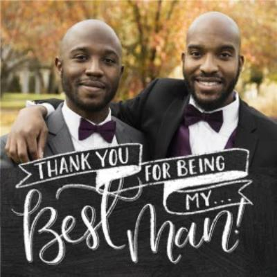 Chalkboard Style Personalised Thank You For Being My Best Man Card