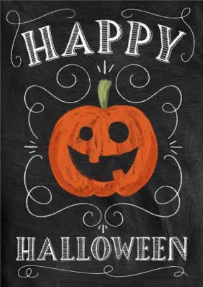 Smiling Jack-O-Lantern Halloween Card