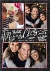 Chalkboard Merry Christmas 3 Photo Upload Card