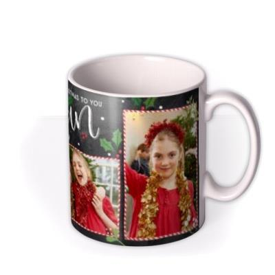 Chalkboard Merry Christmas to you Nanny Photo Upload Mug