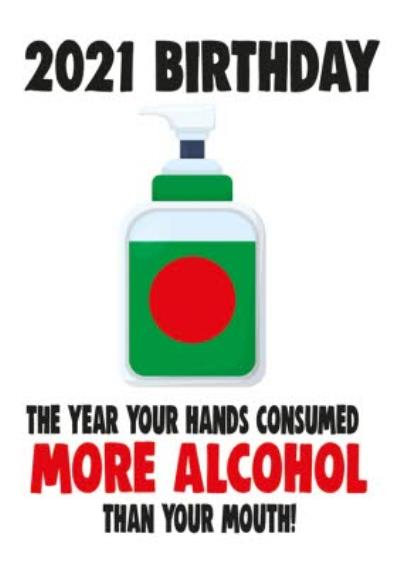 Funny Cheeky Chops This Year Your Hands Consumed More Alcohol Than Your Mouth Card