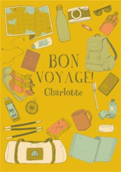 Bon Voyage Card - Travelling - Travel - Adventure