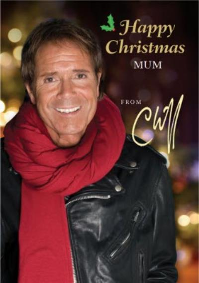 Photographic Cliff Richard Christmas Card, Happy Christmas from Cliff