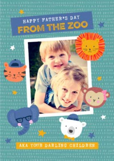 From the Kids Photo Upload Zoo Father's Day Card