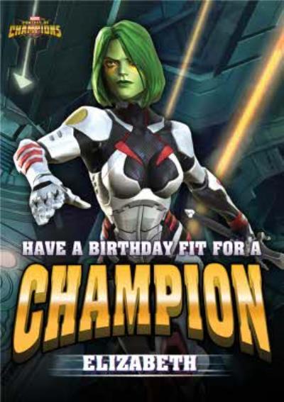 Marvel Contest Of Champions Gamora Birthday Card