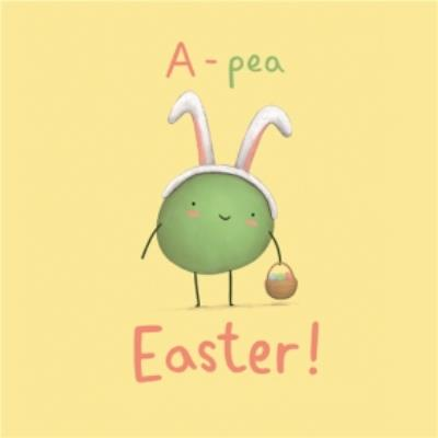 A-Pea Easter Personalised Happy Easter Card