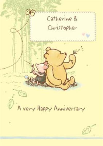 Winnie The Pooh Anniversary Card