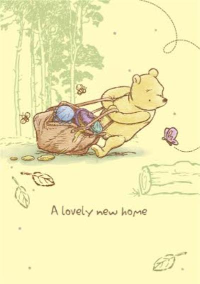 Disney Winnie The Pooh New Home Card
