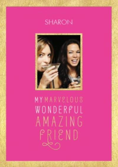 Friend Photo Birthday Card - A Birthday Card For An Amazing Friend