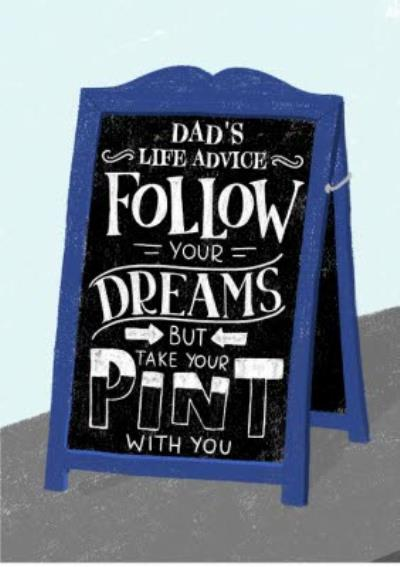 Pub Beer Sign Father's Day Card