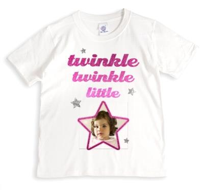 Twinkle Twinkle Little Star Photo Upload T-shirt