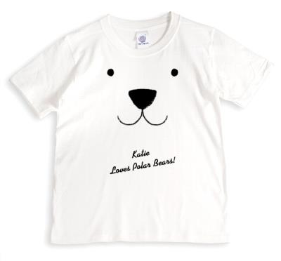 Christmas Polar Bear Love Personalised T-shirt