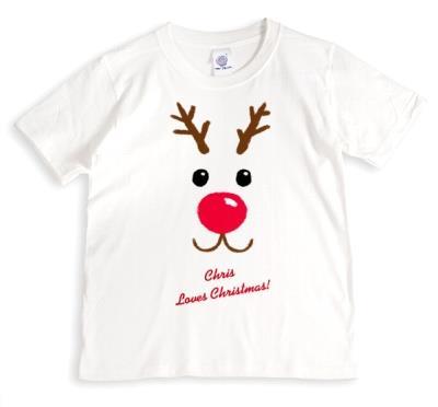 Christmas Reindeer Love Personalised T-shirt