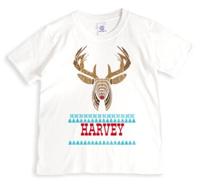 Reindeer Head Personalised T-shirt