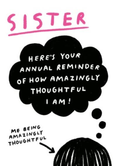 Pigment Annual Reminder Birthday Card